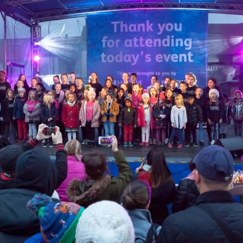 Hatfield's Christmas Lights Switch On