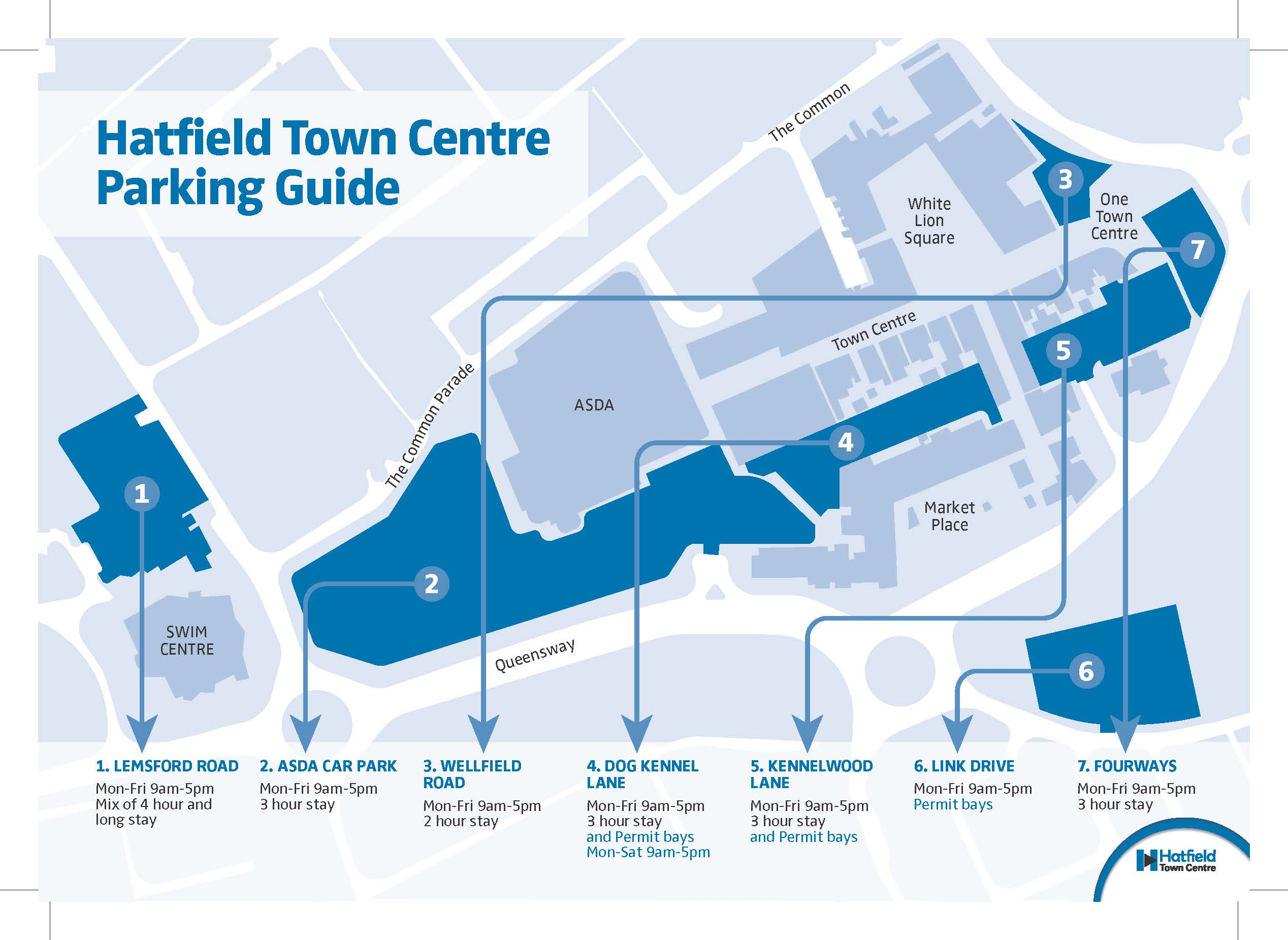 A guide to parking in Hatfield Town Centre